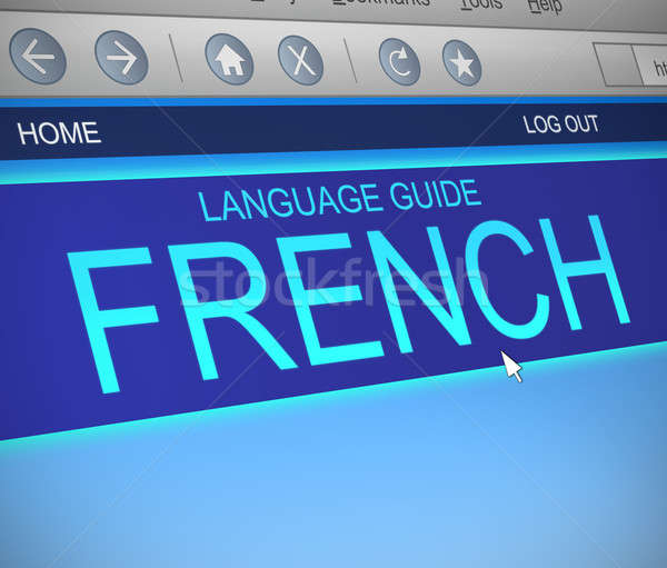 French language concept. Stock photo © 72soul