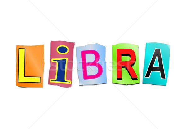 Libra word concept. Stock photo © 72soul