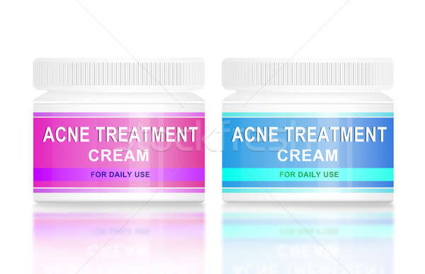 Acne room illustratie twee product gezicht Stockfoto © 72soul