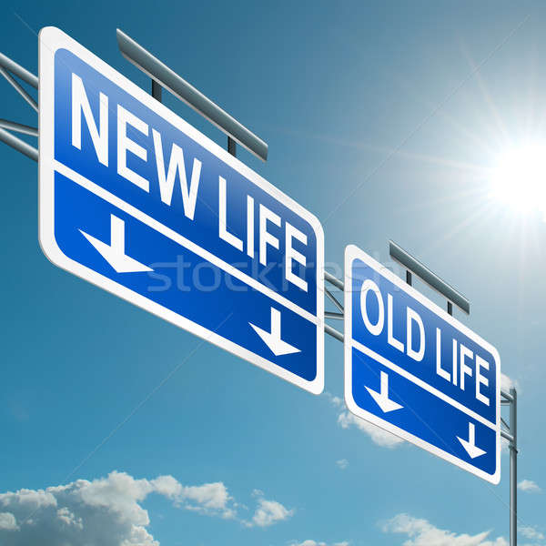 New or old life. Stock photo © 72soul