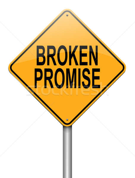Törött ígéret illusztráció útjelzés fehér szeretet Stock fotó © 72soul