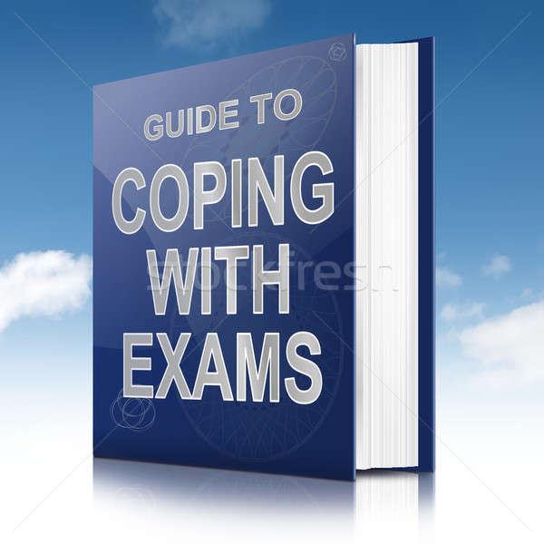Sınavlar örnek kitap başlık gökyüzü okul Stok fotoğraf © 72soul