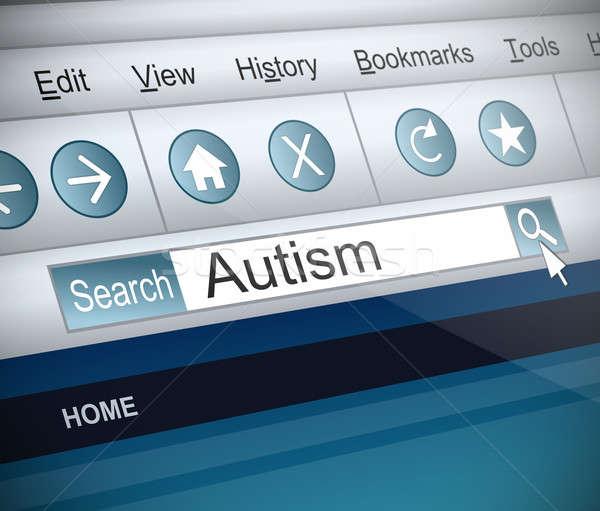 Autyzm ilustracja screenshot Internetu wyszukiwania technologii Zdjęcia stock © 72soul