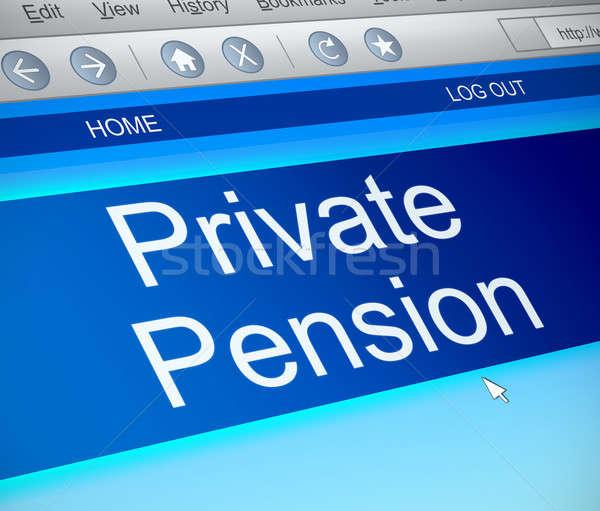 Private pension concept. Stock photo © 72soul