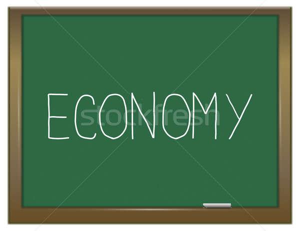 Economia illustrazione verde lavagna industria finanziare Foto d'archivio © 72soul