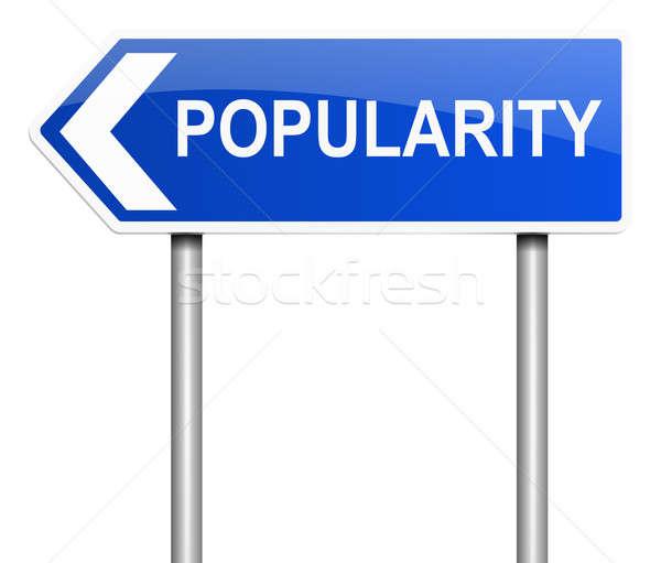 Populariteit illustratie teken mode grafische permanente Stockfoto © 72soul