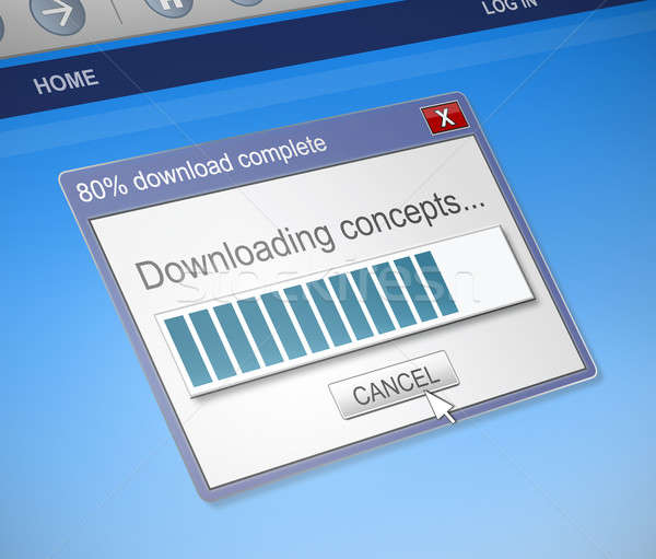 Downloading concepts screen capture. Stock photo © 72soul
