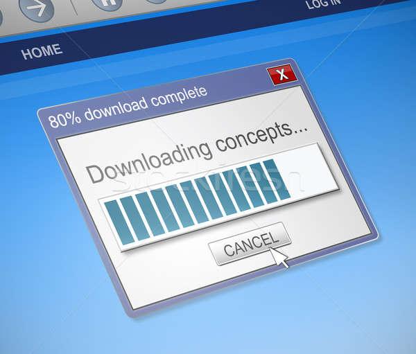 Downloaden scherm vangen illustratie computer Stockfoto © 72soul