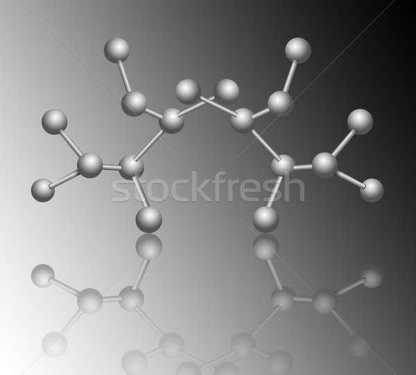 Moleculair illustratie structuur grijs helling Stockfoto © 72soul