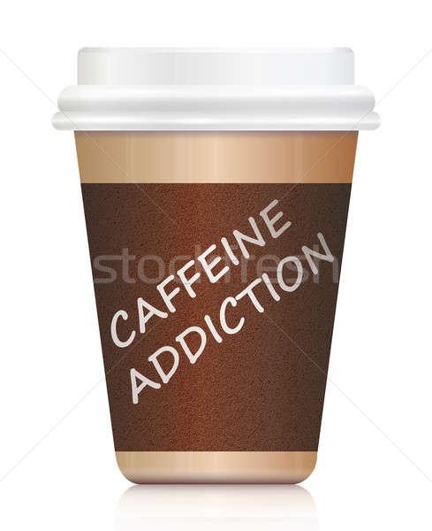 кофеин зависимость иллюстрация кофе из Сток-фото © 72soul