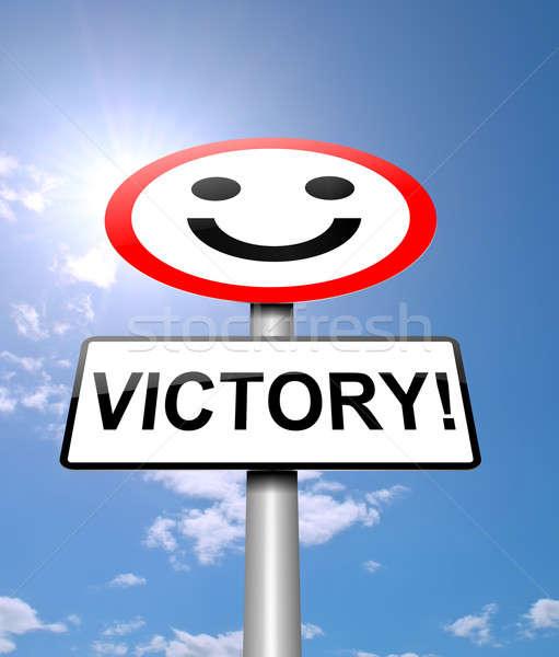 勝利 実例 にログイン 手 背景 勝者 ストックフォト © 72soul