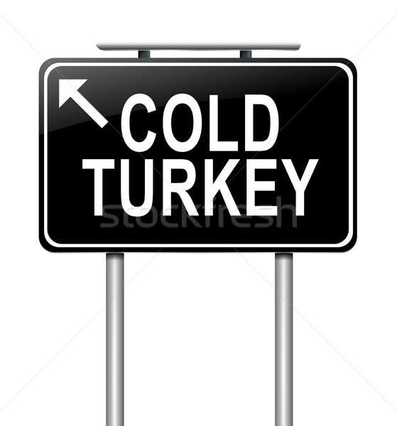 Cold turkey concept. Stock photo © 72soul