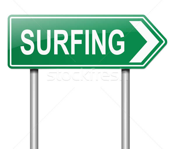 Surfing concept. Stock photo © 72soul