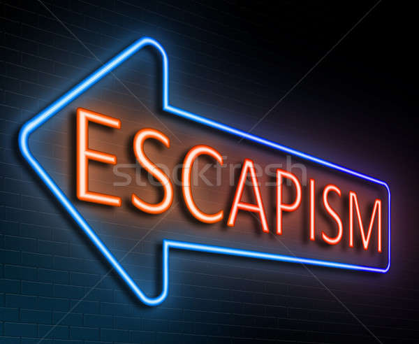 Escapism sign concept. Stock photo © 72soul