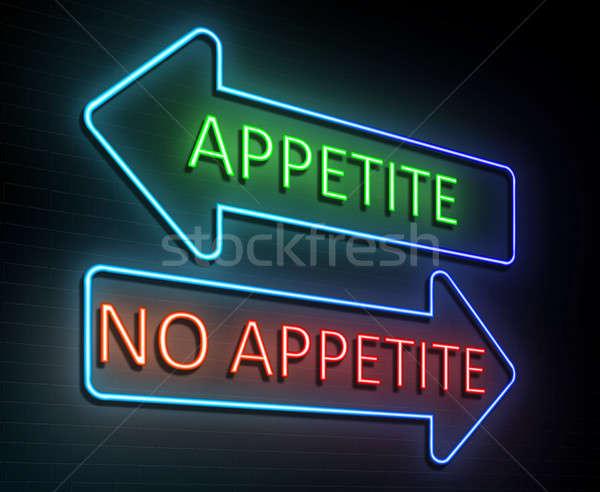неоновых аппетит иллюстрация знак Сток-фото © 72soul