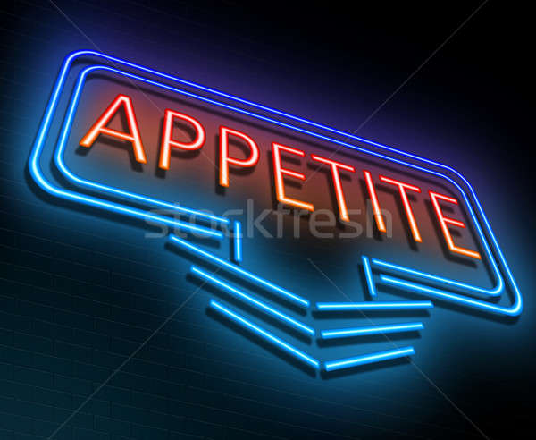Neon appetite concept. Stock photo © 72soul