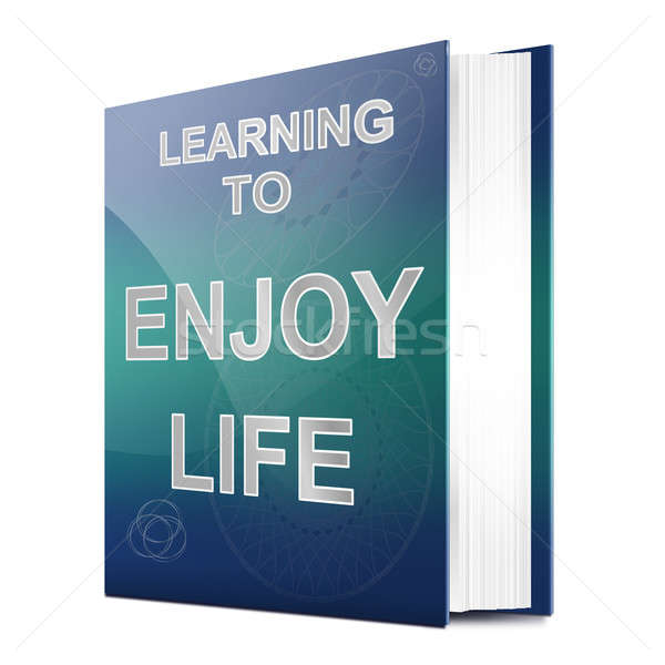 Hayat örnek kitap başlık beyaz Stok fotoğraf © 72soul