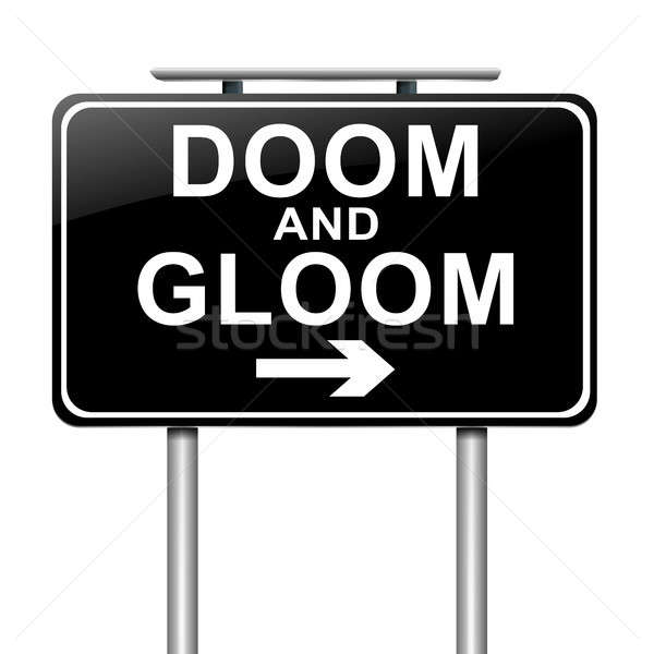Doom and gloom concept. Stock photo © 72soul