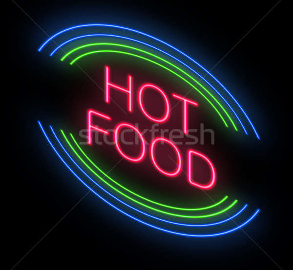 Hot food sign. Stock photo © 72soul
