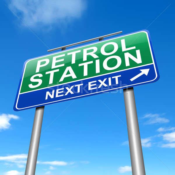 Petrol station sign. Stock photo © 72soul