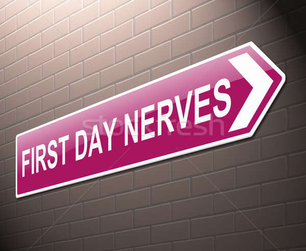 First day nerves concept. Stock photo © 72soul