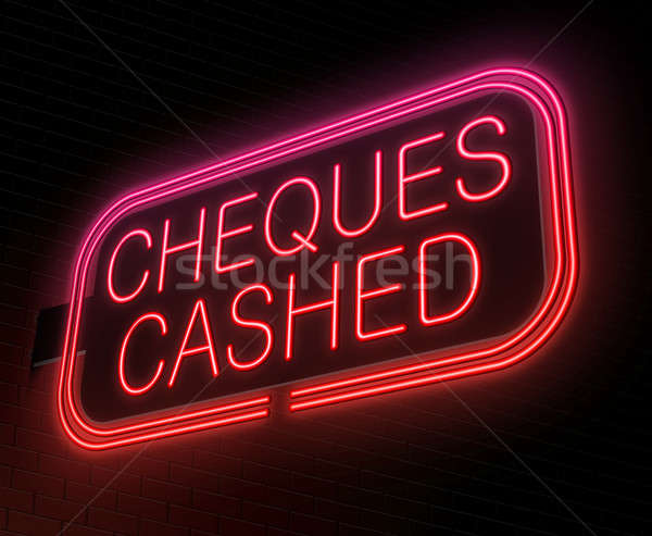 Cheques cashed concept. Stock photo © 72soul