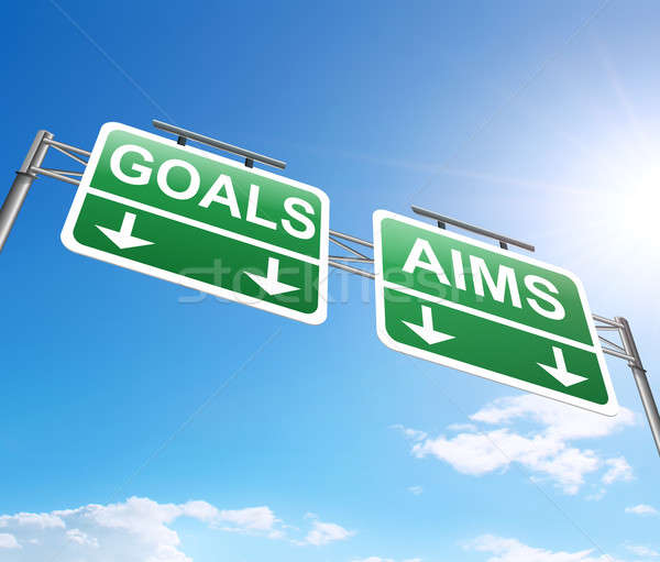Stock photo: Goal and aims concept.