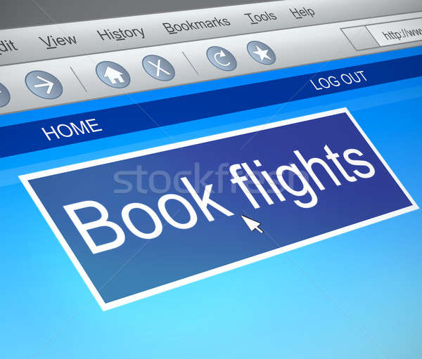 Online flight booking concept. Stock photo © 72soul