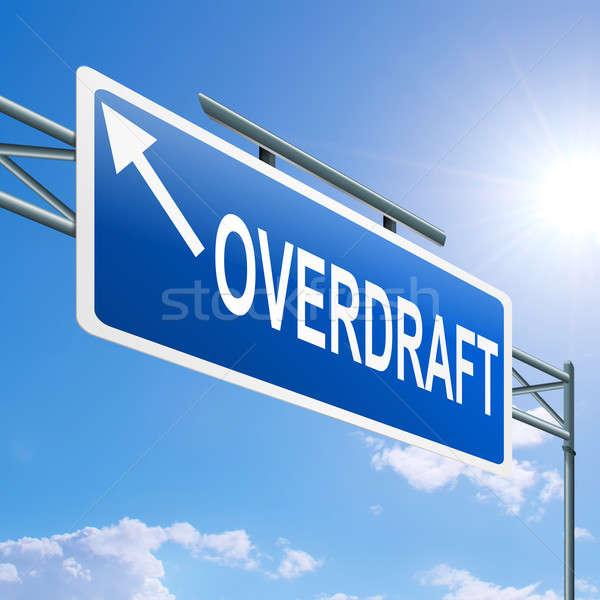 Overdraft concept. Stock photo © 72soul