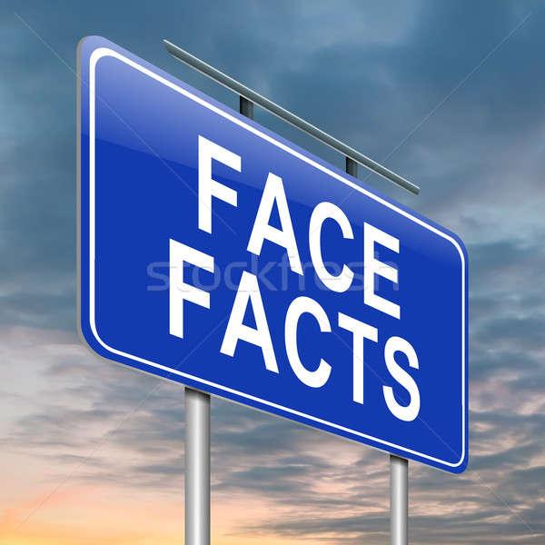 Gezicht feiten illustratie hemel weg Stockfoto © 72soul