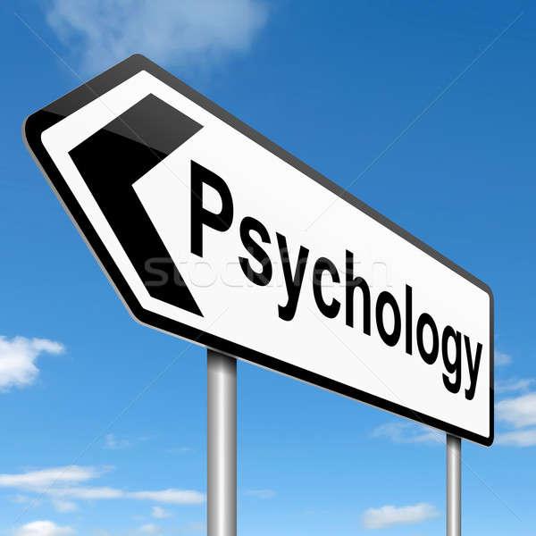 Psychologia ilustracja niebo tle podpisania Zdjęcia stock © 72soul