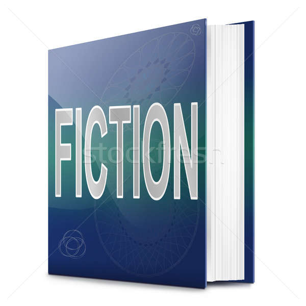 Fiction illustration livre titre blanche art Photo stock © 72soul