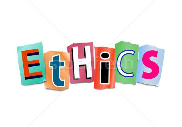 倫理 実例 カットアウト 印刷 文字 フォーム ストックフォト © 72soul