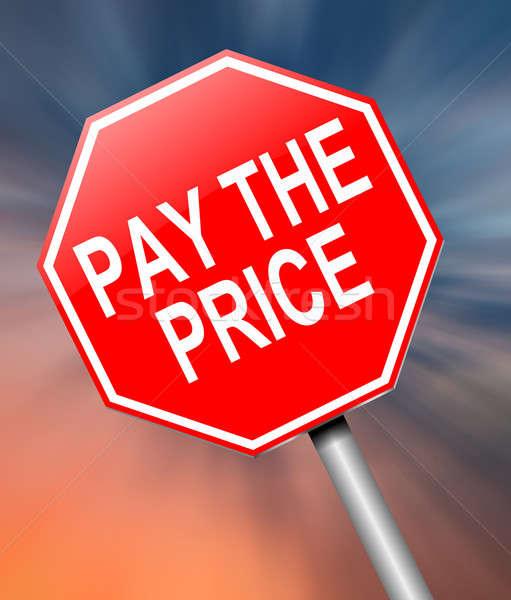 цен иллюстрация знак фон красный Сток-фото © 72soul