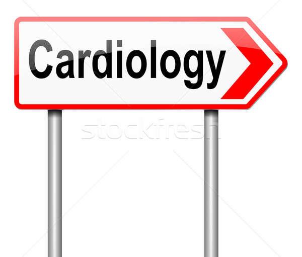 Kardiológia illusztráció felirat orvosi fehér törődés Stock fotó © 72soul