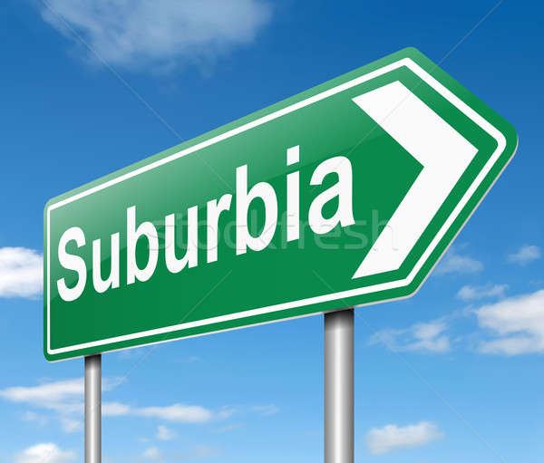 Suburbia concept. Stock photo © 72soul
