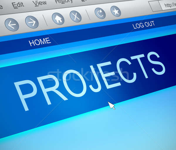 Projects information concept. Stock photo © 72soul