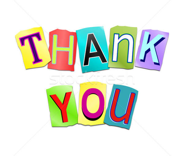 Thank you word concept. Stock photo © 72soul