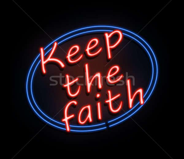 Keep the faith sign. Stock photo © 72soul
