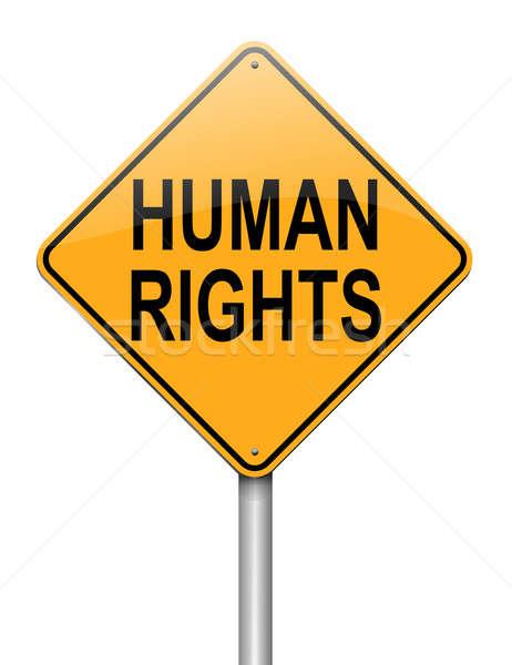 Direitos humanos ilustração branco assinar justiça Foto stock © 72soul