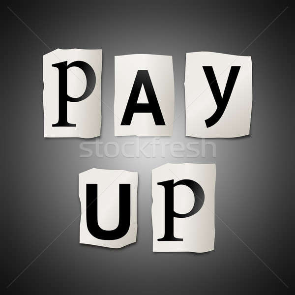 Pay up. Stock photo © 72soul
