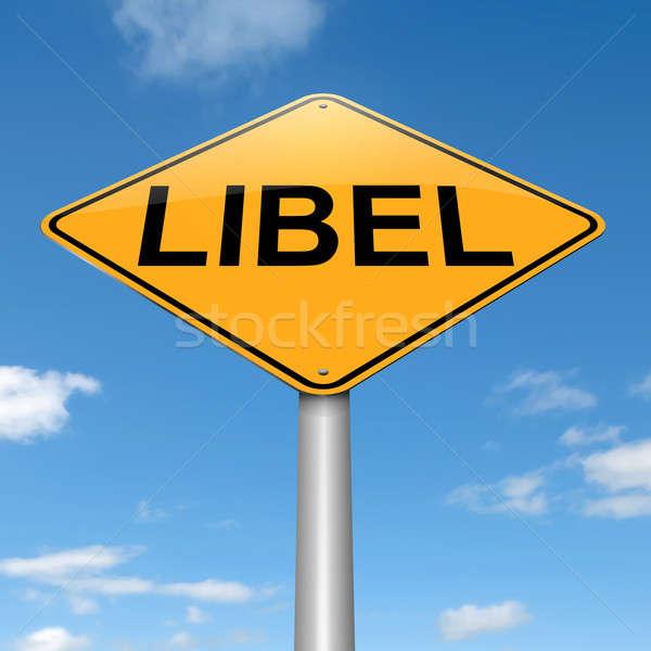 Libel concept. Stock photo © 72soul