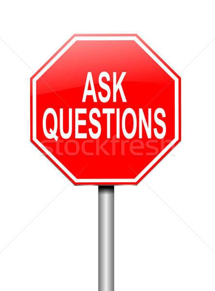 Ask questions concept. Stock photo © 72soul