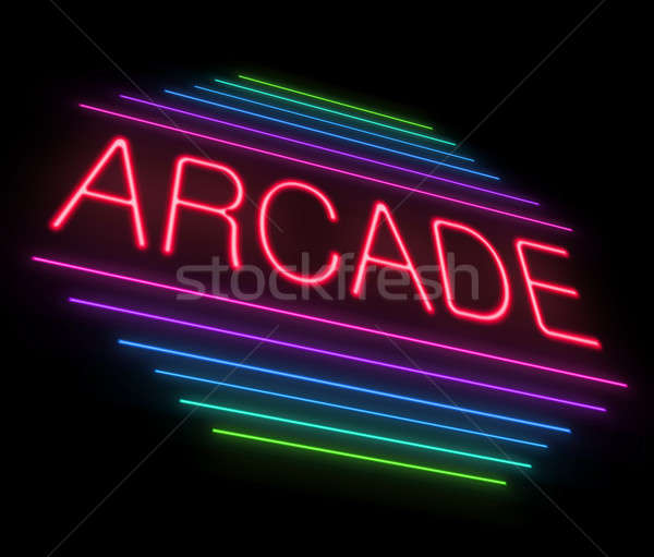 Neon arcade sign. Stock photo © 72soul