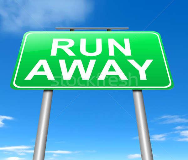 Run away concept. Stock photo © 72soul