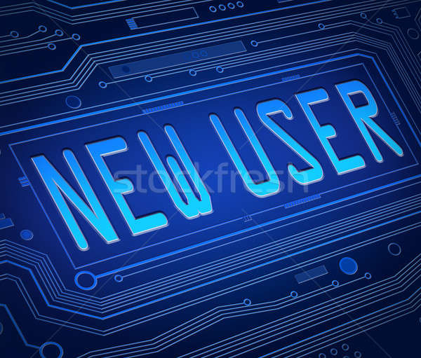 New user concept. Stock photo © 72soul
