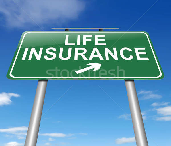 Hayat sigortası örnek imzalamak finansal sigorta yol işareti Stok fotoğraf © 72soul