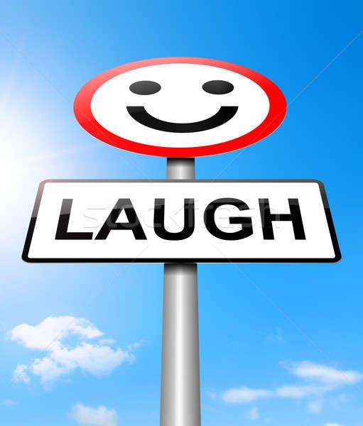 śmiech ilustracja podpisania zabawy uśmiechnięty śmiechem Zdjęcia stock © 72soul