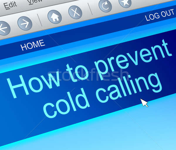 Cold calling concept. Stock photo © 72soul