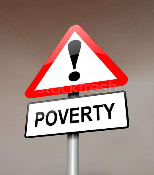 Poverty warning. Stock photo © 72soul